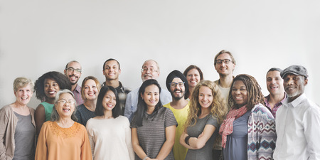 人: 多樣性人們組小組聯合概念 版權商用圖片