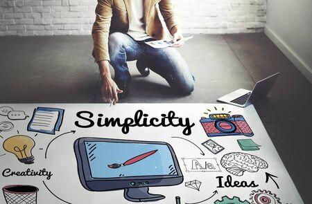 sencillez: Mínimo simplicidad minimalista simple claro concepto Foto de archivo