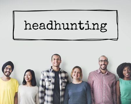 Headhunting Hiring HR Human Resources Position Concept