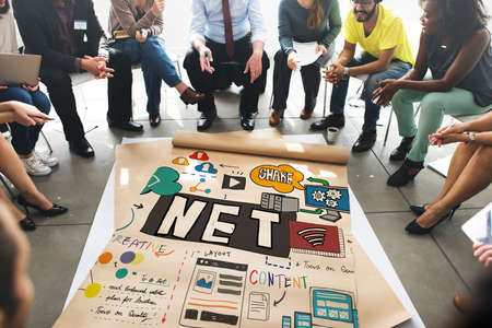 diversity domain: Net Accounting Finance Domain Content Drawing Concept