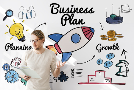 Business Plan Strategy Vision Objective Planning Concept