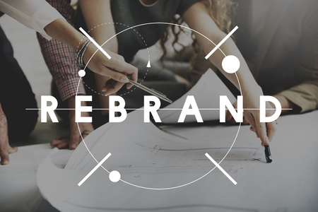 Rebrand Change Identity Branding Style Image Concept Stockfoto
