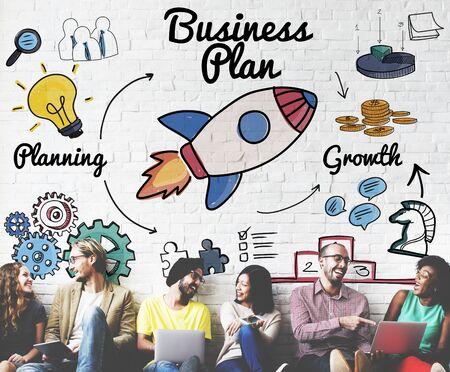 Business Plan-strategie Vision Doelstelling Planning Concept