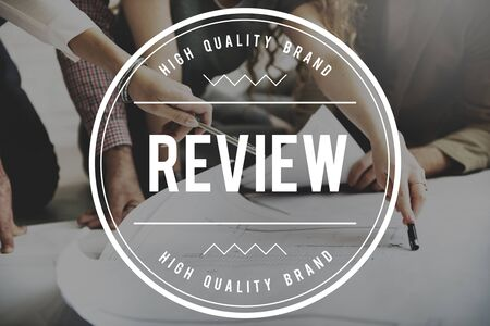 reviewer: Review Reviewer Reviewing Auditing Evaluate Concept Stock Photo