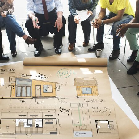 renovating: House Layout Floorplan Blueprint Sketch Concept