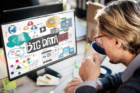 big break: Big Data Information Storage Server Online Technology Concept