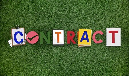 garden settlement: Contract Agreement Deal Commitment Covenant Concept