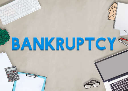 recession: Bankruptcy Banking Loss Recession Debt Concept