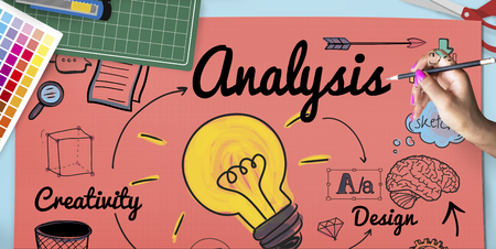Design analysis concept Foto de archivo - 109322604