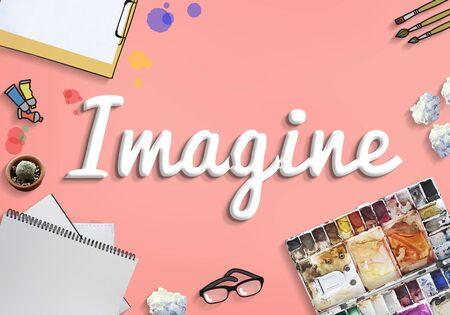 to imagine: Imagine Imagination Vision Creative Dream Ideas Concept Stock Photo