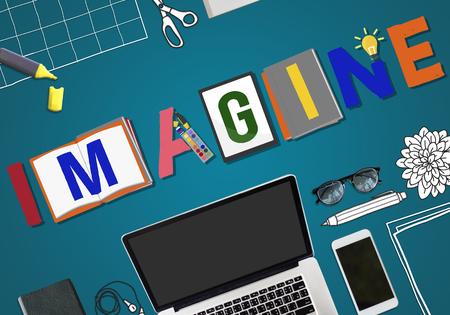 imagination: Imagine Planning Creative Imagination Concept Stock Photo