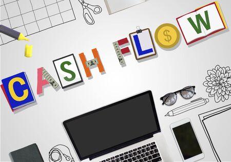 cash money: Cash Flow Money Currency Economy Finance Investment Concept Stock Photo