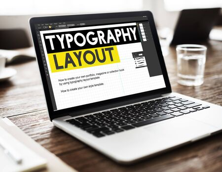 web layout: Typography Layout Responsive Design Creative Concept