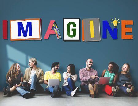 Imagine Planning Creative Imagination Concept Stock Photo