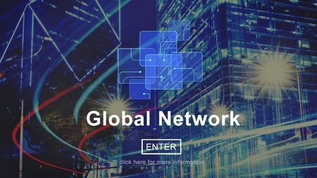 Global Network Connection Social Network Technology Internet Concept Stock Photo - 53971992