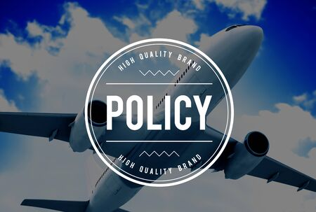 an approach: Policy Position Rules Strategy System Approach Concept Stock Photo