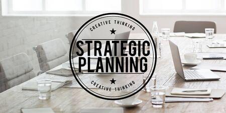 planificacion estrategica: Concepto de Gestión Visión Estratégica de Valor Planificación Foto de archivo