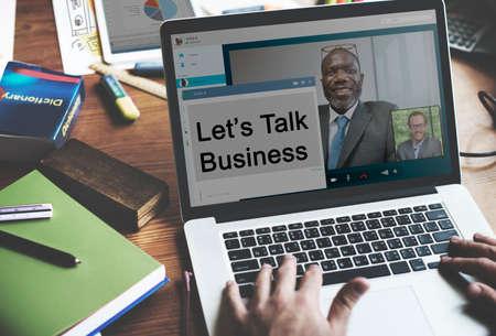 lets: Lets Talk Business Trade Communication Concept