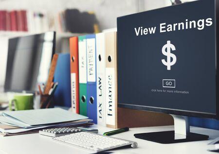 ganancias: Ver Ganancias Oro Concepto de Contabilidad Financiera Foto de archivo