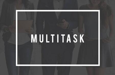tasks: Multitask Tasks Multiprocessing Simultaneously Concept Stock Photo