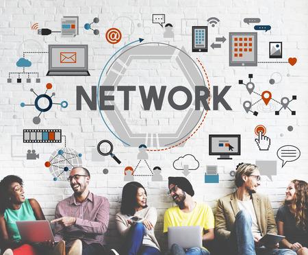 diversity domain: Network Communication Connection Internet Concept