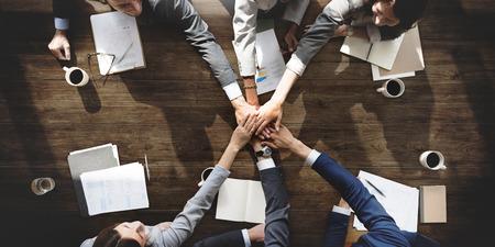 ビジネス人チームワーク連携関係概念 写真素材