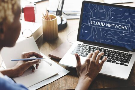 virtual technology: Cloud Network Connection Networking Technology Concept