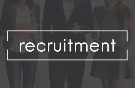 manpower: Recruitment Job Position Employment Manpower Concept Stock Photo
