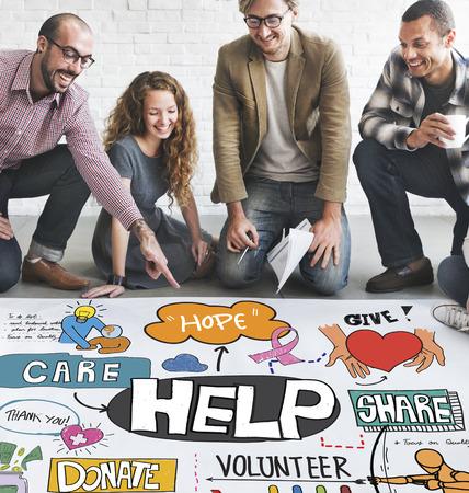 welfare: Help Aid Charity Support Welfare Concept Stock Photo