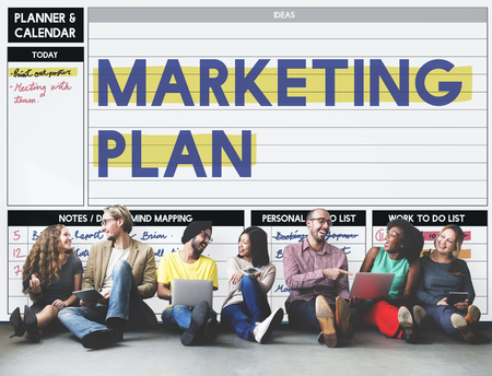 marketing plan: Marketing Plan Strategy Branding Advertising Commercial Concept Stock Photo