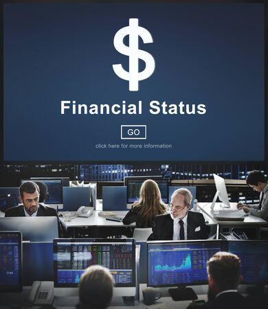 hectic: Financial Status Money Cash Dollar Sign Concept