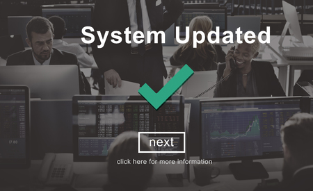 System Updated Upgrade New Internet Data Concept