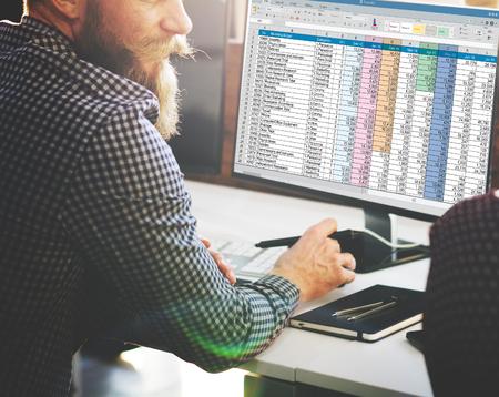 hoja de calculo: Concepto de hoja de cálculo de información del documento financiero de inicio