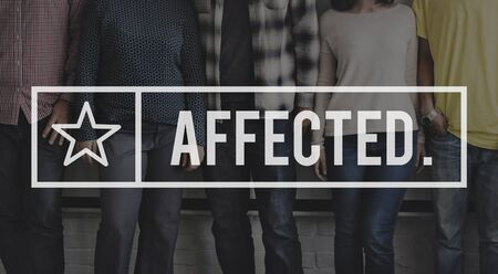 affected: Affected Effect Influenced Reason Cause Result Concept Stock Photo