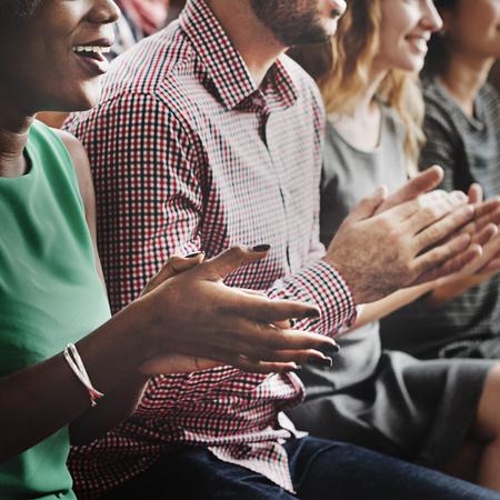 Audiencia Aplauda Aplaudir Happines Apreciación Concepto de formación
