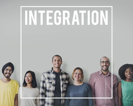 merging together: Diversity People Friends Cheerful Team Concept