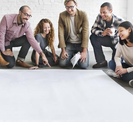 place of work: Architect DesignTeam Discussion Ideas Concept