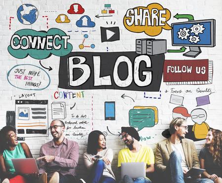 blogging: Blog Social Media Networking Content Blogging Concept