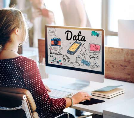 information analysis: Data Information Statistics Technology Analysis Concept