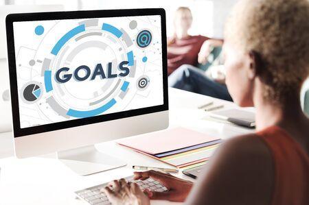 Goals Mission Target Hud Aspiration Concept Stockfoto - 54639317