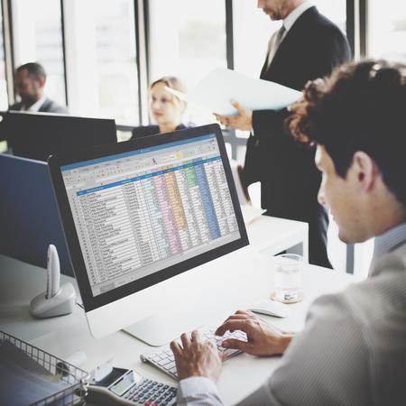 Homme d'affaires de travail Statistiques comptables Stats Concept