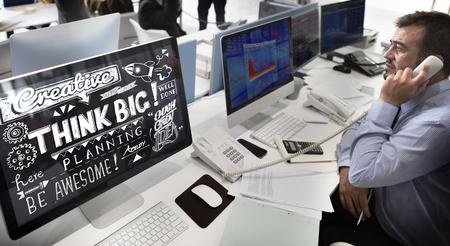 believe: Think Big Actitud cree Concepto optimismo Foto de archivo