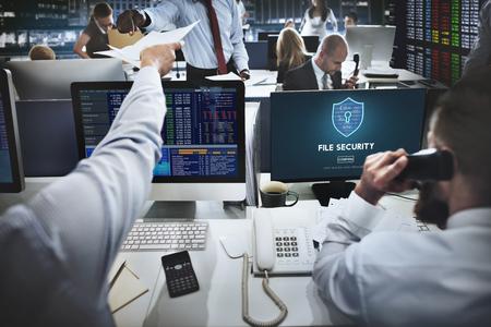File Security Online-Sicherheit Schutzkonzept Standard-Bild