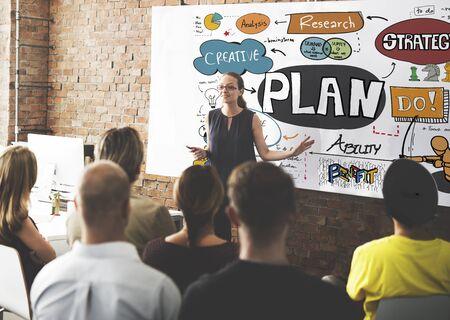 Plan Planning Strategie Proces Missie Concept