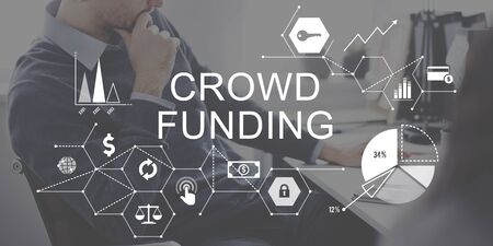 funding: Crowd Funding Supporters Investment Fundraising Contribution Concept