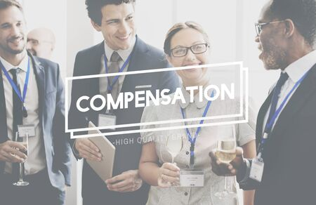 compensated: Compensation Finance Bonus Incentive Concept Stock Photo