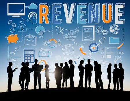revenue: Revenue Profit Sales Finance Concept Stock Photo