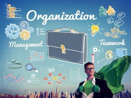 business confidence: Organization Management Planning Commitment Concept