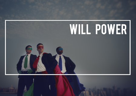 will power: Will Power Courage Goal Target Aspiration Concept