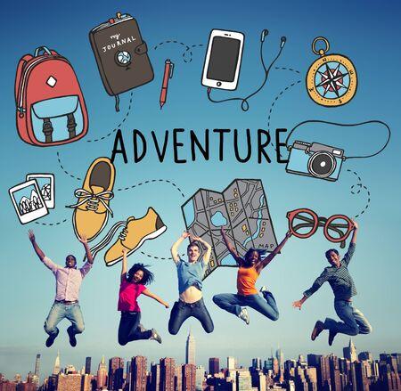 Voyage d'aventure Destination de voyage vacances Concept